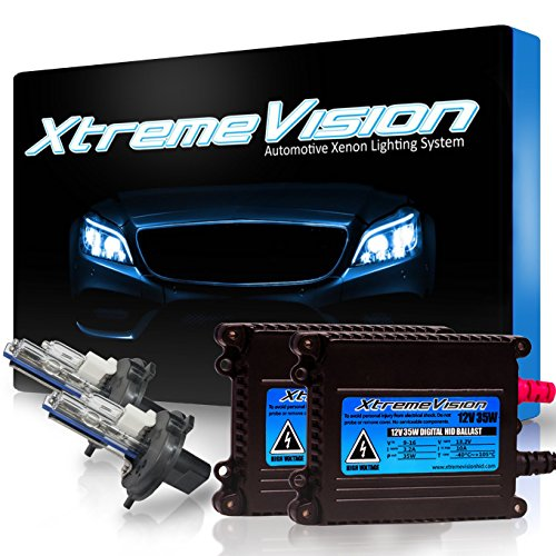 Xtremevision 35W Xenon HID Lights with Premium Slim Ballast - H4 / 9003 6000K - 6K Light Blue - 2 Year Warranty