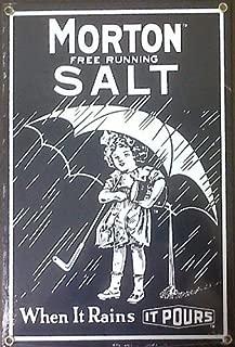 Morton 14 Salt Porcelain Steel Sign