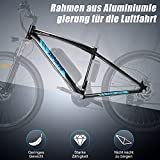 "ANCHEER Elektrofahrrad Ebike Mountainbike, 26""/27.5"" Elektrisches Fahrrad mit 36V 8Ah/10Ah/12Ah Lithium-Batterie und Shimano 21-Gang (27.5"" Explorer Schwarz rot 10Ah)"