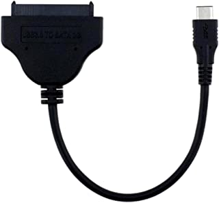 Whitleys USB 3.0 Type-C to SATA 22Pin Adapter Cable Lead Cord for 2.5'' Hard Drive HDD (Black)