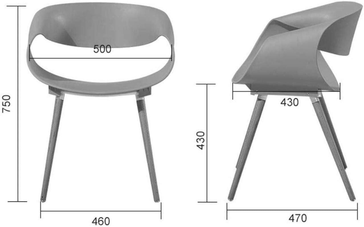BDLYZ Yxsd Chaises de salle à manger pour la maison, le bureau, le restaurant, le salon, la chaise moderne simple en plastique (couleur : rouge) Blanc