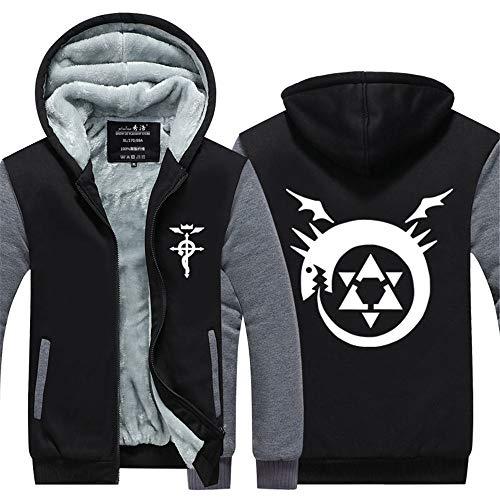 GO2COSY Anime Fullmetal Alchemist Cosplay Thicken Jacket Sweatshirt Costume Hoodie
