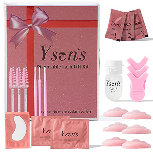 Ysen's Kit de Permanente de Pestañas Desechable, Eyelash Perm Liquid Eyelash Wave - Herramientas de Maquillaje Curling de Pestañas, Lash Lift kit Long Lasting, Duradero y Natural