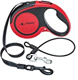 Retractable Dog Leash with Anti-Chewing Steel Wire, 360°Tangle-Free Pet Walking Leash for Small Medium Large Dogs, Heavy Duty up to 110lbs, 16ft Strong Reflective Leash, One-Hand Brake