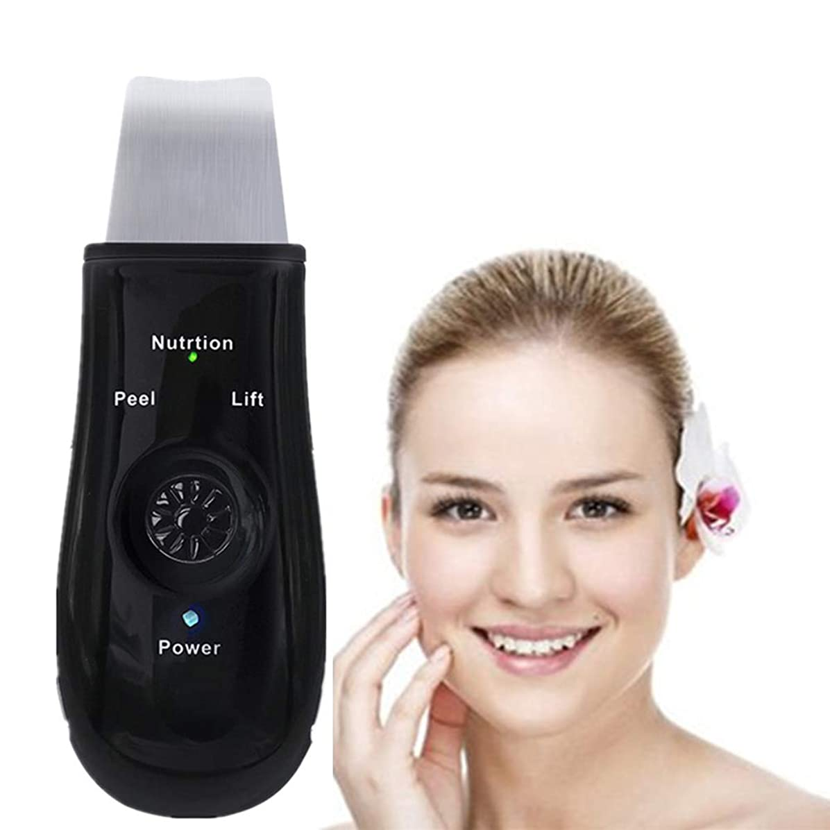 ハードドナー予報充電式 - 黒の除去機のUSBピーリングリフティングEMSクレンジングエクスフォリエイティングスキンケアピーリングと顔の皮膚のスクラバーピール毛穴ツール装置ブラックヘッドリムーバー毛穴の掃除機