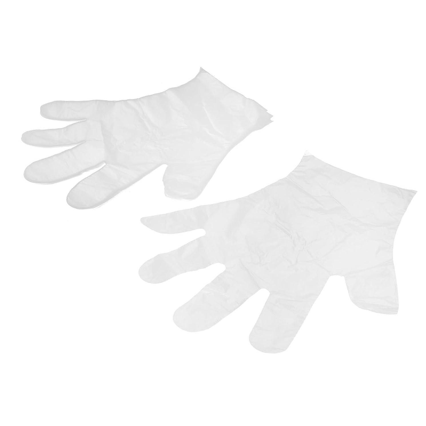 月曜日形作りuxcell 使い捨て手袋 家庭用 食べ物サービス 手の保護 透明 プラスチック 28 x 20cm 25ペア入り