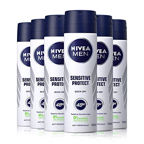 NIVEA Men Deo Sensitive 150ml Pack of 6
