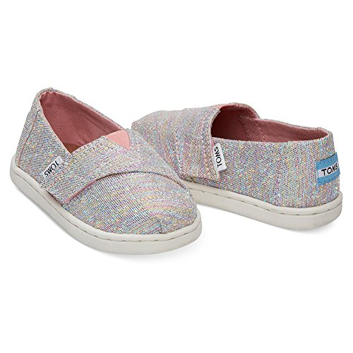 TOMS Infant Girls Alpargata Slip On - Sneakers Shoes Casual - Pink - Size 10 M
