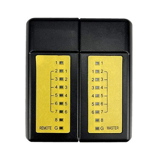 Mogzank Probador de Cable de Red RJ45 RJ11 Detector de LíNea MultifuncióN Inteligente Rastreador de Cable TelefóNico