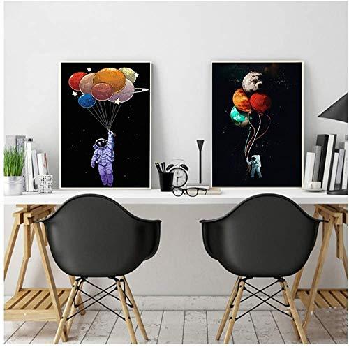 """Surfilter Impresión en lienzo Pintura abstracta del arte de la lona Schnauzer Dog Pop Art Cuadros de la pared para la sala de estar Decoración del hogar Impresiones 31.4"""" x 31.4"""" (80x"""