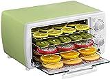 SHKUU Deshidratador, deshidratador Alimentos con Temporizador, Mejor secador para Alimentos crudos, Control Temperatura 30 a 78 Grados, Tiempo 1 a 12 Horas, Aire Caliente 360 Grados, Fruta,