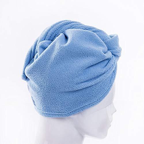 JUNCH 1 toalla de microfibra para el pelo de secado rápido para el cabello, turbante, toalla de secado de gorro de ducha (2)