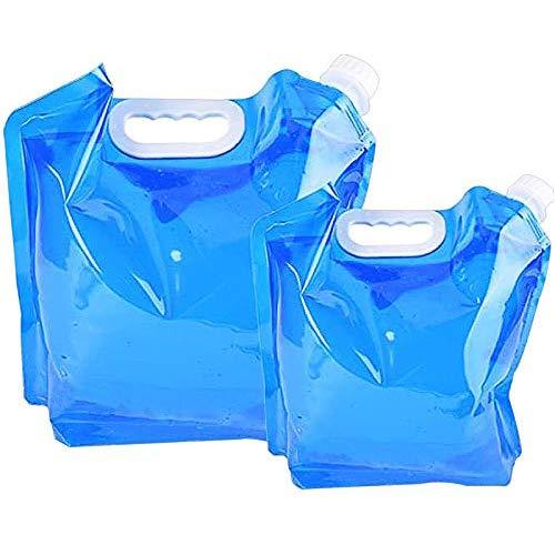 Yisscen Bolsa de Agua Plegable, 2 Piezas (5L + 10L) Contenedores de...