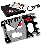 23 in 1 Credit Card Multi Tool Set Gifts for Him. Best Birthday & Valentine's Day Gifts for Men who Have Everything - Coolest Gadgets Regalos para Hombre Multi Tool Card Set - Bad Boy Edition v3.0