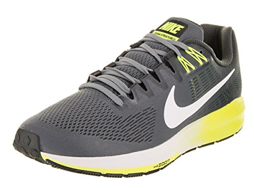 Nike Air Zoom Structure 21, Zapatillas de Running para Hombre, Gris (Cool Grey/Anthracite/Volt/White), 45 EU