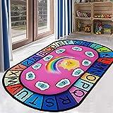 Massage-AED Alfombra de Juego ABC con números Alfombra de Escalada para bebés Sala de Estar Dormitorio Niños Aprendizaje Alfabeto Alfombra
