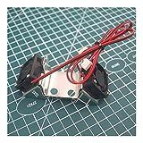 MZHE Impresora 1pcs UM2 bricolaje 2 3D de piezas de acero inoxidable de doble soporte del ventilador With12V aficionados del conducto de ventilador de refrigeración for UM2 Hotend Adecuado para la may