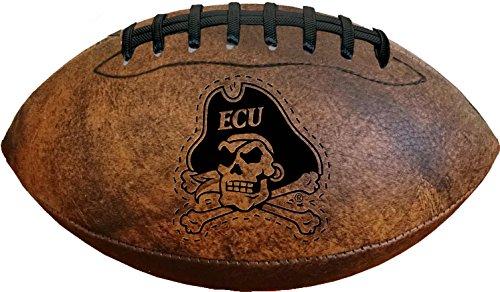 NCAA East Carolina Pirates Vintage Throwback Football, 9-Inches