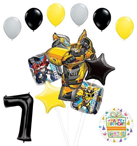 Transformers Mayflower Products Bumblebee suministros para fiesta de cumpleaños 7º aniversario decoración de ramo de globos