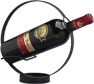 XZYP 1 Bouteilles Rack Métallique Vin, Comptoir Libre Support À Vin De Stockage, Space Saver Protector pour Rack-Rouge Pet...