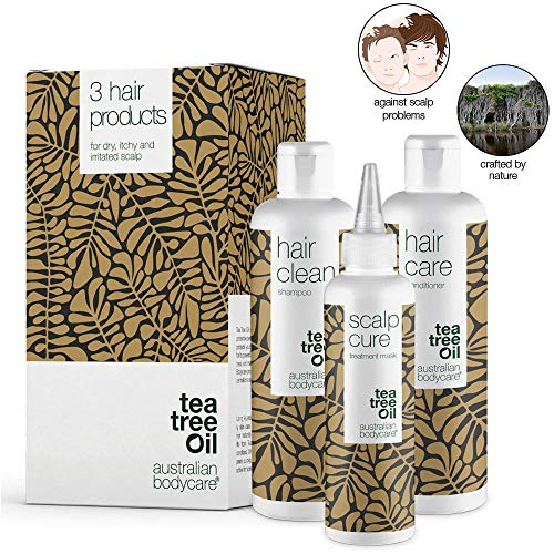 Australian Bodycare Tea Tree Oil (3 productos) - Tratamiento con aceite del árbol del té - Para cuero cabelludo seco, con picores, caspa, descamaciones o acné - Antihongos y antibacteriano