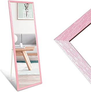 Tian Full-Length Floor Mirror Clothing Store Dormitory Fitting Mirror Home Bracket Dressing Mirror (Color : Pink)