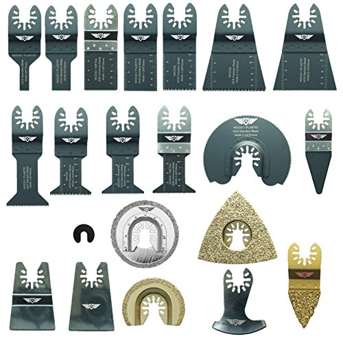 Sale!! 22 x TopsTools DRFAK22CD Fast Fit Mix Blade Kit plus Adapter for Dremel Multimax Multi-Max MM...