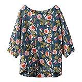 Axong_chemisier Femme Décontractée Grande Taille Coton Hauts Tee Shirt Boho Vintage...