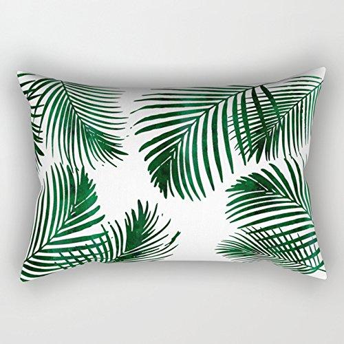 Ymot101 Tropical Palm Leaf - Funda cojín Rectangular