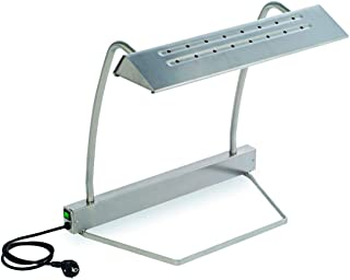 Visiodirect Lampe chauffante en Acier Inoxydable D : 560 x 330x510mm