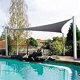YDL Triangolo 2x2x2m Impermeabile Sun Shelter Protezione da Parasole Protezione da Ombrellone Outdoor Canopy Garden Patio Piscina Tenda da Sole Tenda da Campeggio Panno (Color : Grey(300x300x300cm))