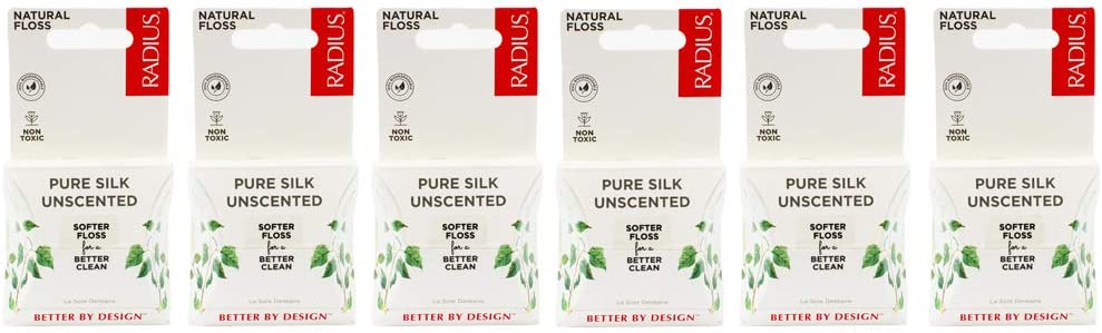 RADIUS Natural Unscented Silk Dental Floss 33 Super beauty product restock Austin Mall quality top Yards Compostable