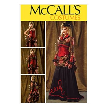 McCall Pattern Company M6911 Misses  Bolero Corset Skirt and Overskirt Sewing Template Size A5