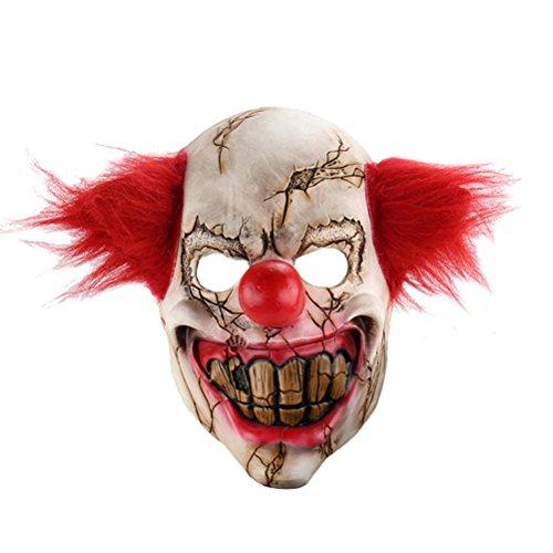 LUOEM Máscara de Payaso de Halloween Máscara de Payaso de Miedo Máscara Disfraz Adulto Fantasma Fiesta Máscaras Suministros Decoración