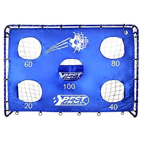 Best Sporting Fußballtor und Torwand Blue, 213 x 152 cm, mit 5 Schusslöchern, blau