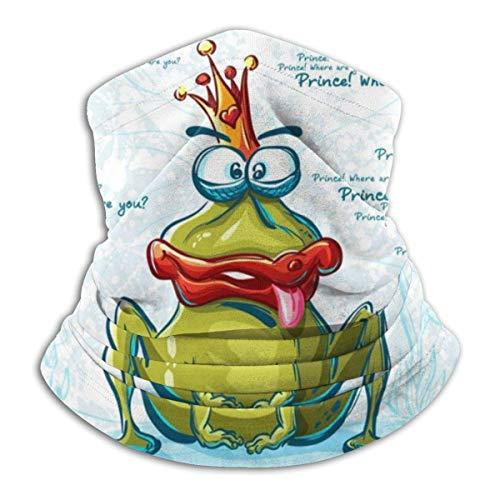 Lzz-Shop Lächelnder Frosch Cartoon-Stil Halswärmer - Kopfbänder Schal Kopfwickel, Hals Gamasche Rohr Angeln, Gesicht Sport Schal
