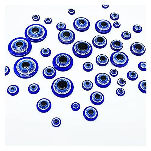 TTCI-RR Abalorios 6-18mm Azul Medio Redondo Forma Espaciador Espaciador Resina DE Resina DE Las Personas Plantas para LA JOYERA Haciendo DIY (Item Diameter : 16mm 20pcs)