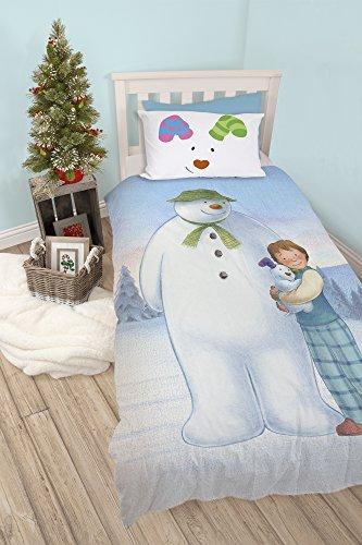 The Snowman And Snowdog Single Duvet Set – Perfect Christmas Bedding
