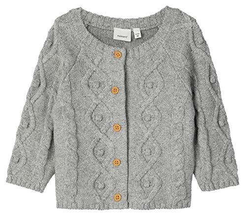 NAME IT Veste tricotée unisexe pour bébé - Gris - 9 mois