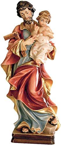 Ferrari & Arrighetti Imagen San José con el Niño Jesús en Madera de Arce Pintada a Mano - 20 cm