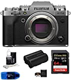 Fujifilm X-T4 Mirrorless Digital Camera Body (Silver) Bundle, Includes: SanDisk 64GB Extreme PRO SDXC Memory Card, Spare Fujifilm NP-W235 Battery + More (6 Items)