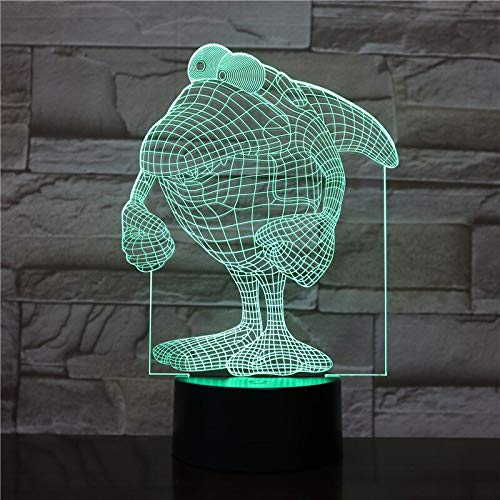 Animal penguin 3D Lamp Touch Sensor 7 Color Changing room Decorative Lamp Child Kids Kit Nightlight penguin Led Night Light 1519
