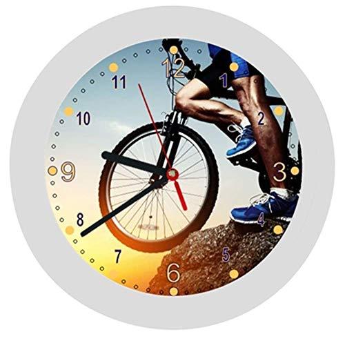✿ Kinderwanduhr in 4 Farben ✿ Radsport cycling 3 Verein✿ Wanduhr ✿ Kinderuhr ✿ KEIN TICKEN ✿ mit/ohne Name