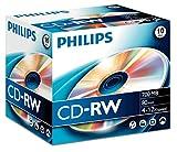 Philips CD-RW 80MIN - Confezione da 10...