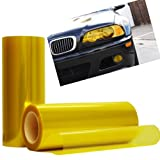 Optix Yellow Tint Vinyl Film Gloss Headlight Fog Lights - 12' x 36' Inch