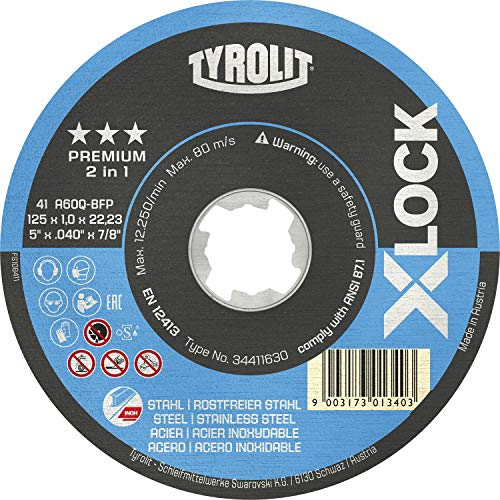 Fabric Tyrolit 41/Straight Cutting Disc Pack of 1 Pack of 10 Dimensions 350x2,8x25,4/223033
