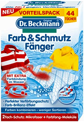 Dr.Beckmann - Color & Dustcloth with Microfiber and dye-Trapping Molecules 44 pcs. / Germany