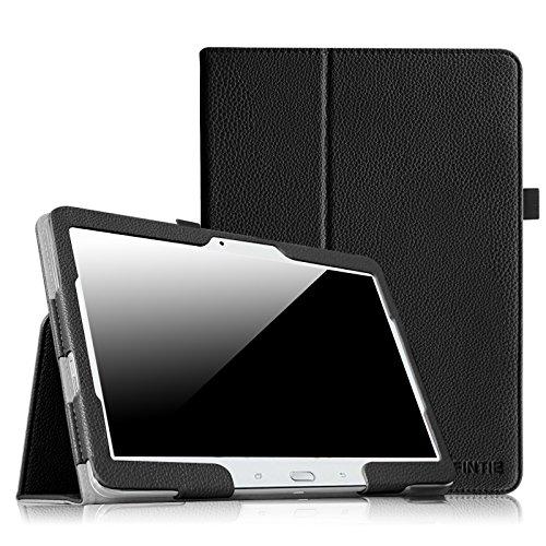 Fintie Hülle Hülle für Samsung Galaxy Tab 4 10.1 SM-T530 SM-T535 Tablet - Slim Fit Folio Kunstleder Schutzhülle Cover Tasche mit Auto Schlaf/Wach Funktion, Schwarz