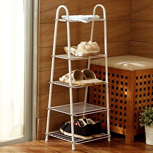 JPVGIA Weiß Trapezes Fünf-Regal-Rack-Regal Display-Ständer Regale Küche Wohnzimmer Mehrzweck Storage Rack