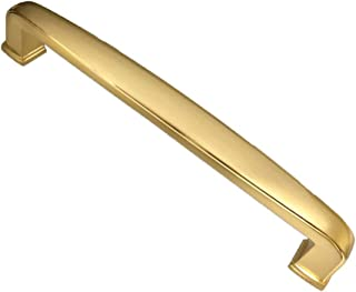 Southern Hills Brushed Brass Drawer Pulls - 5 Inch Screw Spacing - Pack of 5 - Satin Brass Kitchen Cabinet Door Handles - Cupboard and Vanity Hardware - SH0816-BRS-5